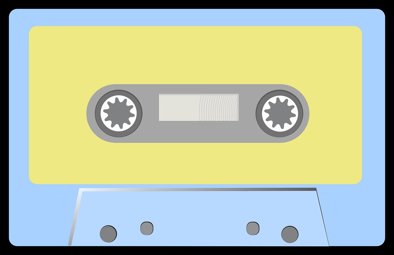 Free Simple Cassette Clip Art