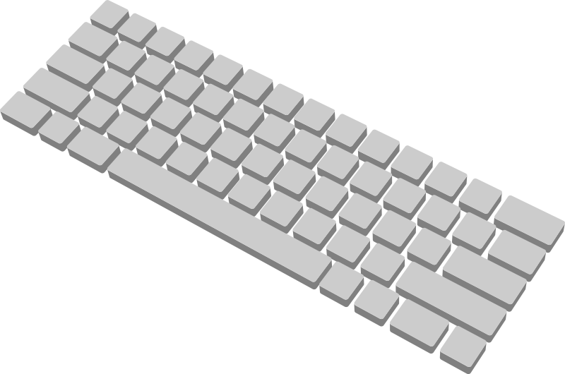 Free Simple Generic Keyboard Clip Art-Free Simple Generic Keyboard Clip Art-7