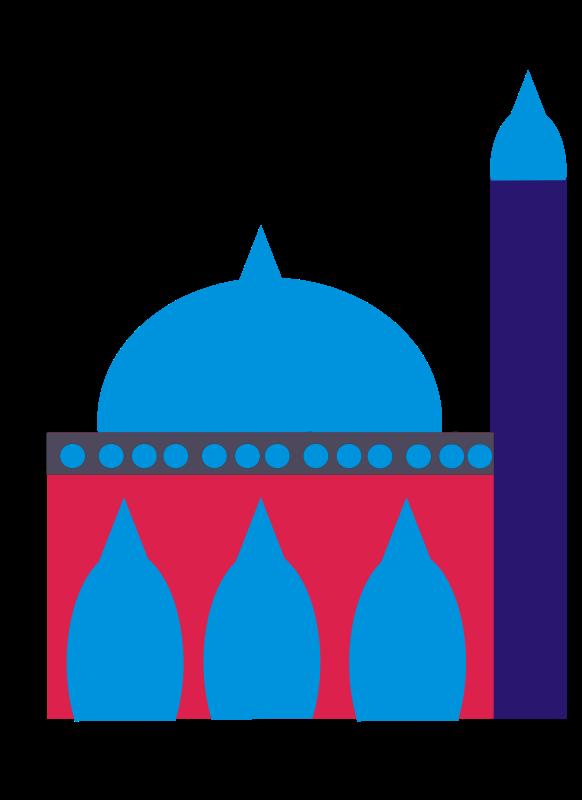 Free Simple Mosque Clip Art - Mosque Clipart