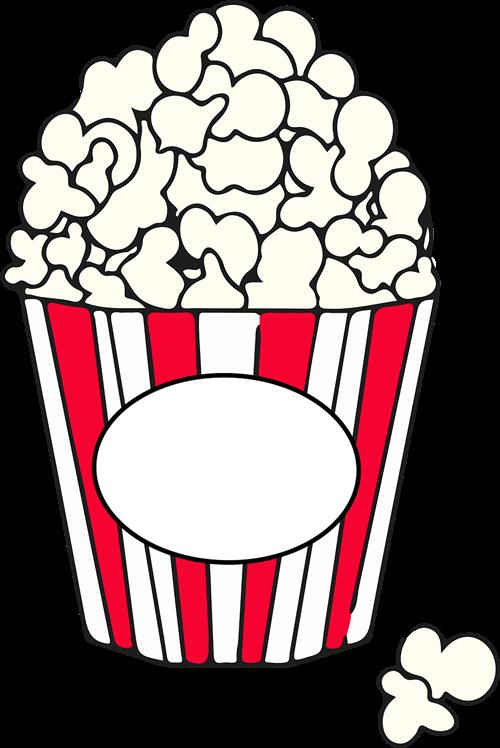 Free Simple Popcorn Clip Art