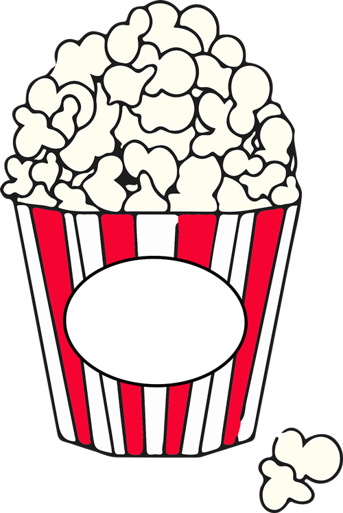 Popcorn simple. Clipart clipartlook
