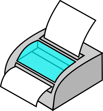 Free Simple Printer Clip Art-Free Simple Printer Clip Art-3