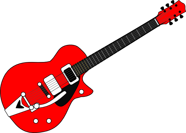 Free Simple Red Electric Guitar Clip Art-Free Simple Red Electric Guitar Clip Art-12