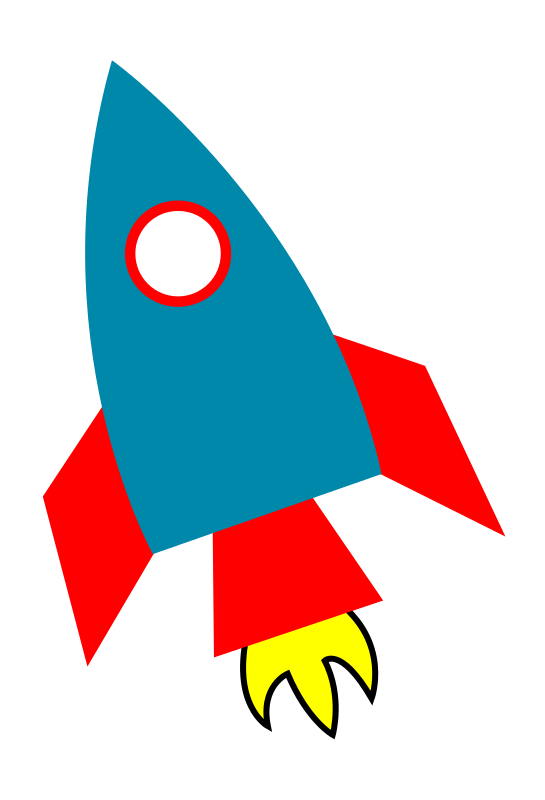 Free Simple Rocketship Clip Art