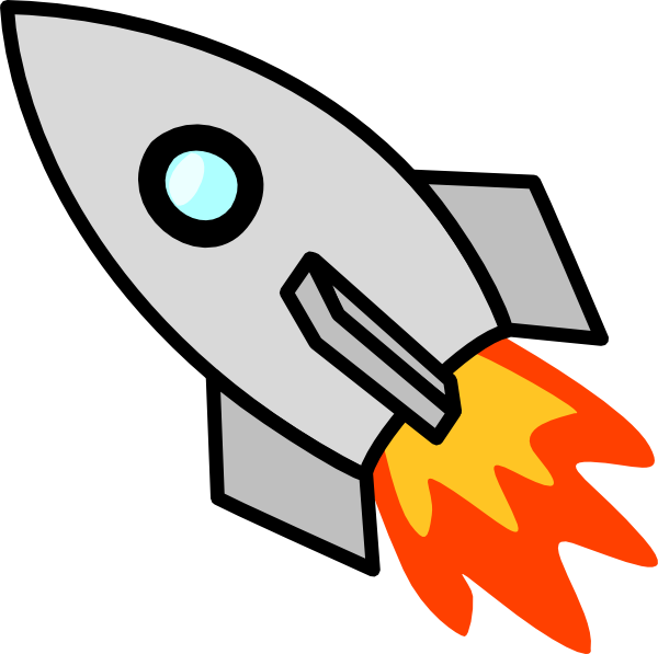 Free Simple Rocketship Clip A - Rocket Ship Clipart