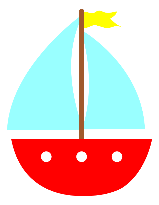 Free Simple Sailboat Clip Art - Sail Boat Clipart
