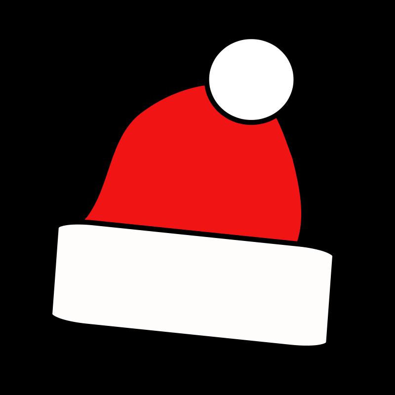 Free Simple Santa Cap Clip Ar - Santa Hat Clip Art