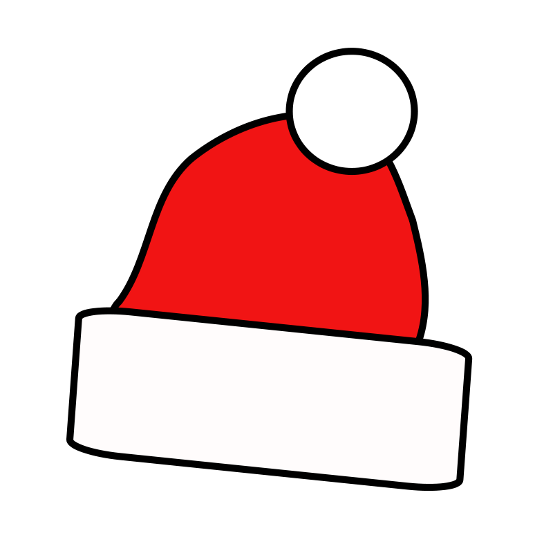 Free Simple Santa Cap Clip Art