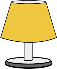 Free Simple Table Lamp Clip Art