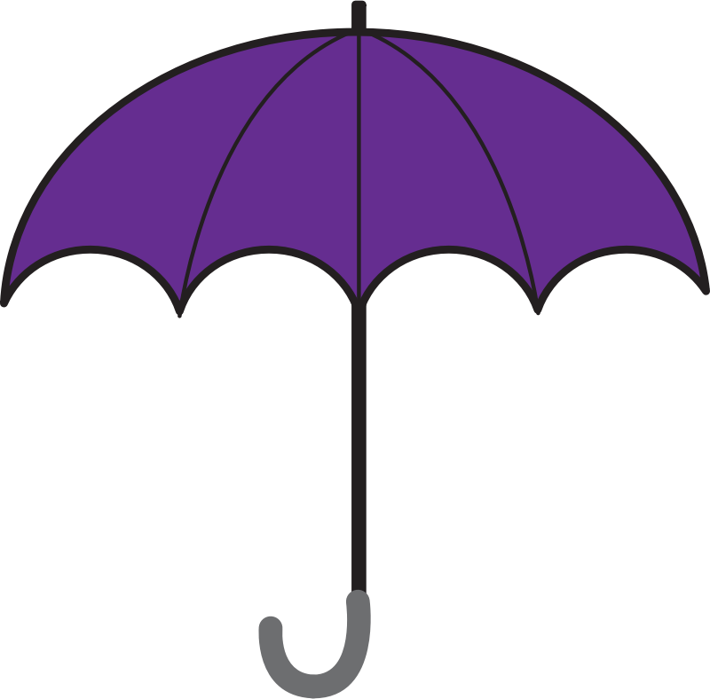 Free Simple Violet Umbrella Clip Art