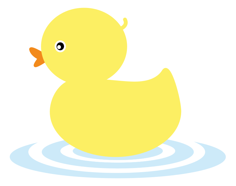 Free Simple Yellow Duckling Clip Art