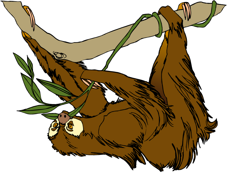 Free Sloth Clipart-Free Sloth Clipart-2