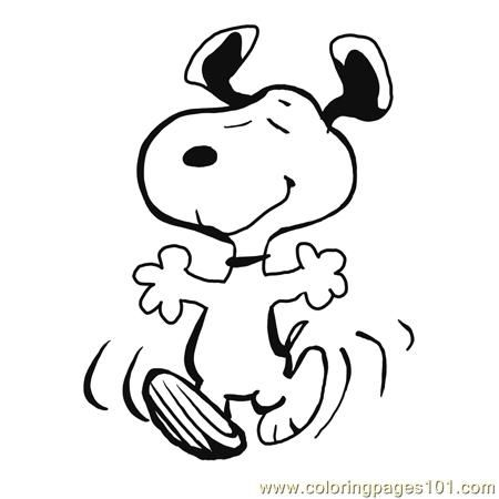 Free Snoopy Clip Art | Coloring Pages Finished Snoopy Dancing (Cartoons u0026gt; Snoopy) -