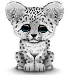 Free Snow Leopard Clip Art. Saved by