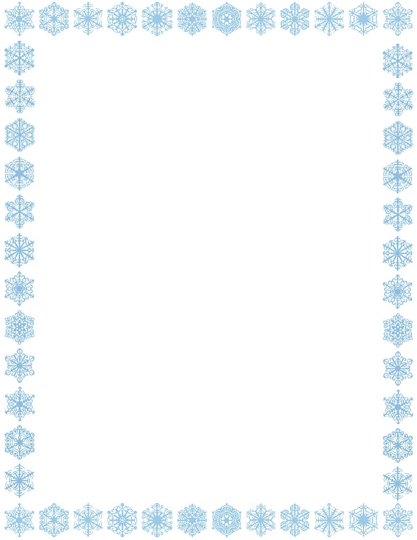 Free Snowflake Border Clipart Cliparts C-Free Snowflake Border Clipart Cliparts Co-5