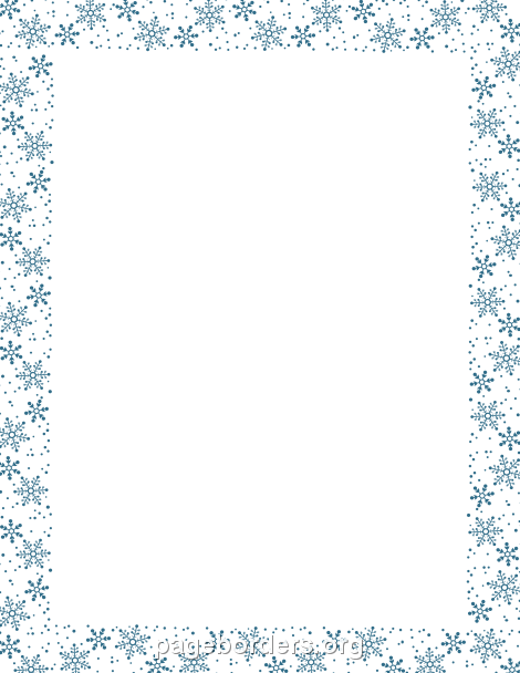 Free Snowflake Clipart. 2016/ - Free Snowflake Border Clipart