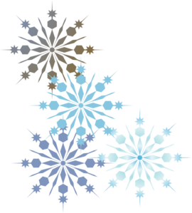 Free snowflake clipart borders .