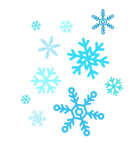 22 Simple Snowflake Clipart F