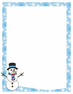 Free snowman border templates .