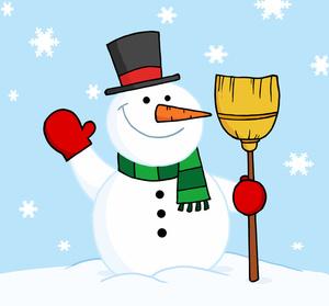 Making a snowman clip art cli