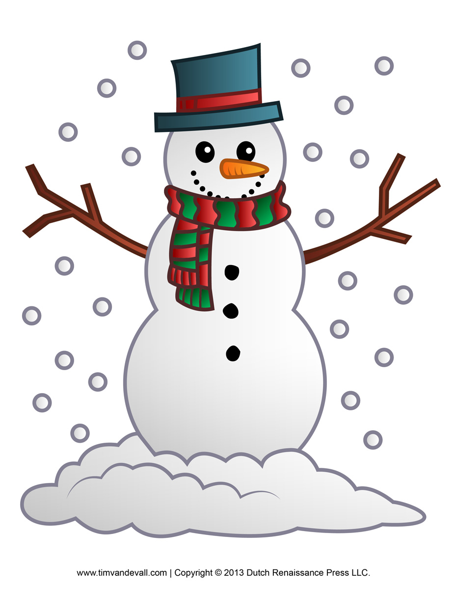 Free Snowman Clipart Template Printable -Free Snowman Clipart Template Printable Coloring Pages For Kids-12