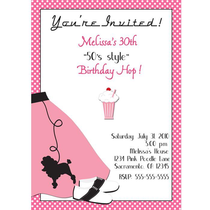 Free Sock Hop Clip Art | ... All Digital Invitation Designs u203a poodle skirt sock hop