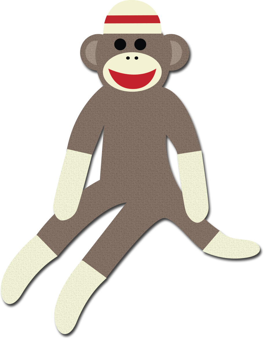 Free Sock Monkey Clip Art