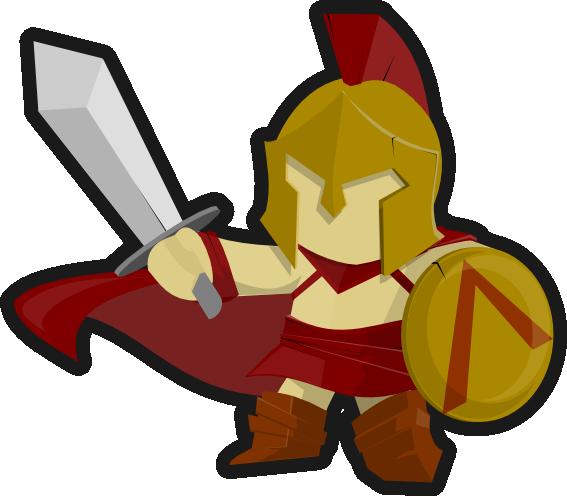 Free Spartan Soldier Clip Art