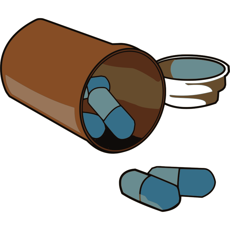 Free Spilled Medicine Pills Clip Art