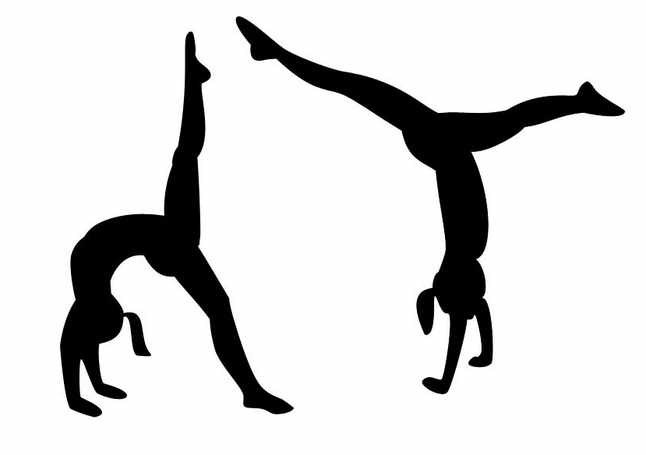 Free sports gymnastics clipart .