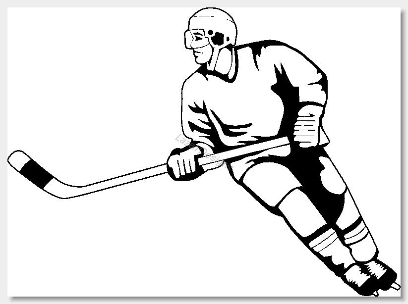 Free sports hockey clipart .