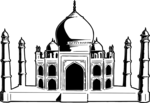 Free Stock Photo: Illustratio - Taj Mahal Clip Art
