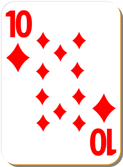 Free Stock Photos | Illustration Of A Ten Of Diamonds Playing Card