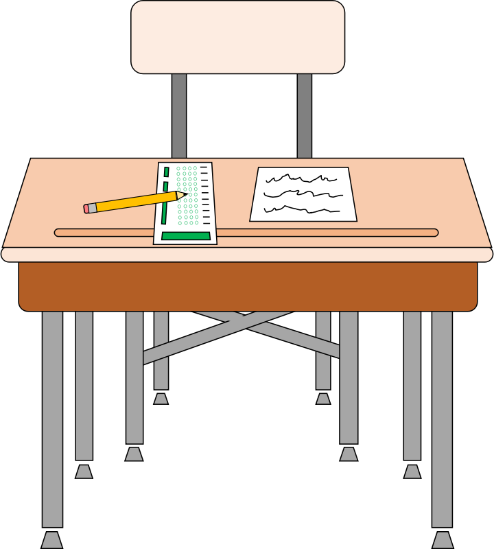 School Boy at School Desk