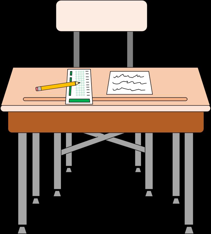 Free Student Desk Clip Art