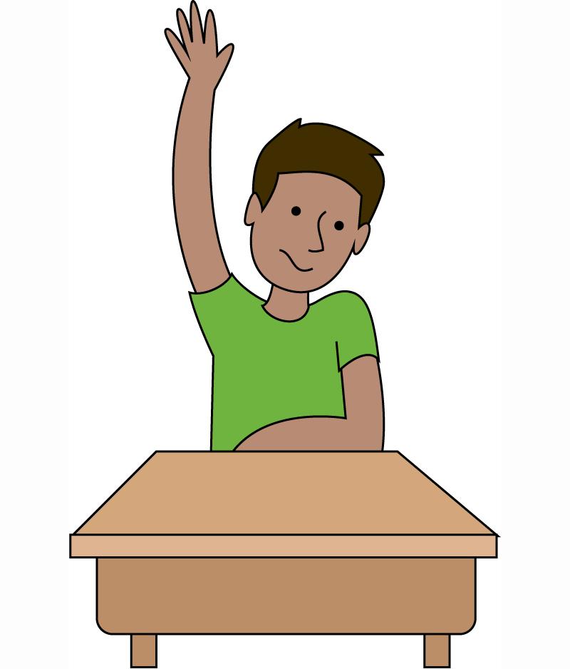 Free Student Raising Hand .-Free Student Raising Hand .-5