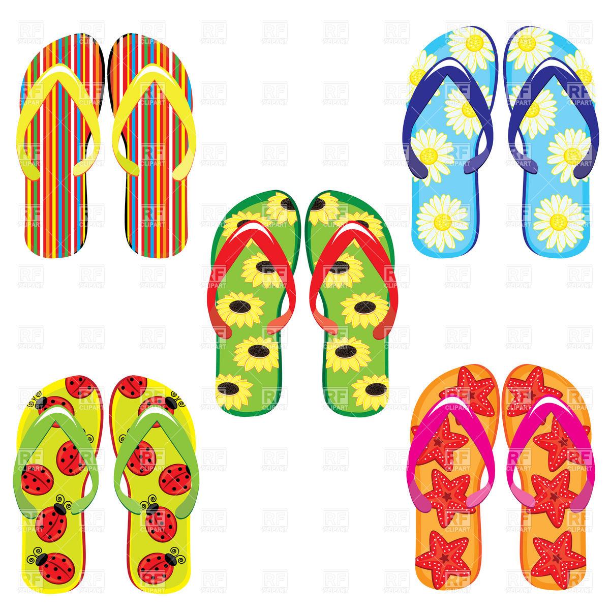 Free Summer Clip Art. flip flop border clip art .