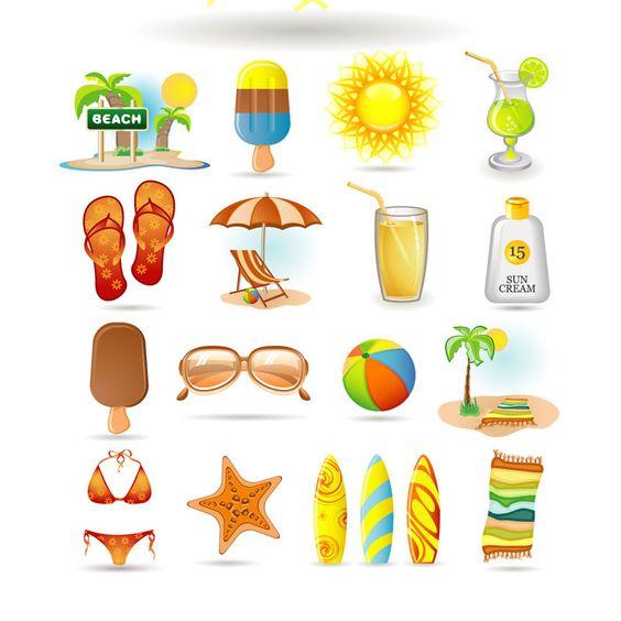 Free Summer Clip Art | Vector illustrations, graphics for Adobe Illustrator (ai, eps