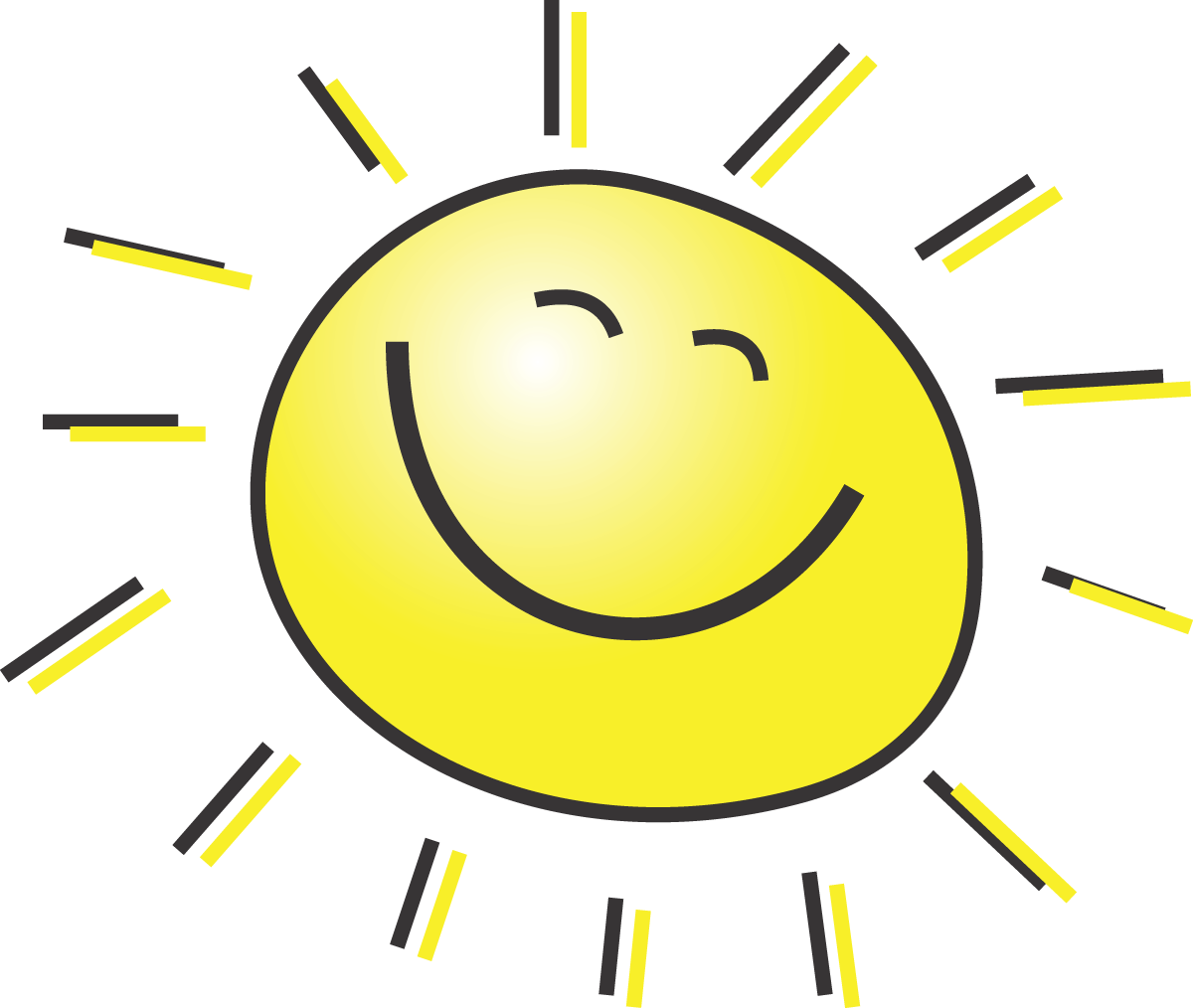 Free Summer Clipart Illustration Of A Happy Smiling Sun by 00015 .