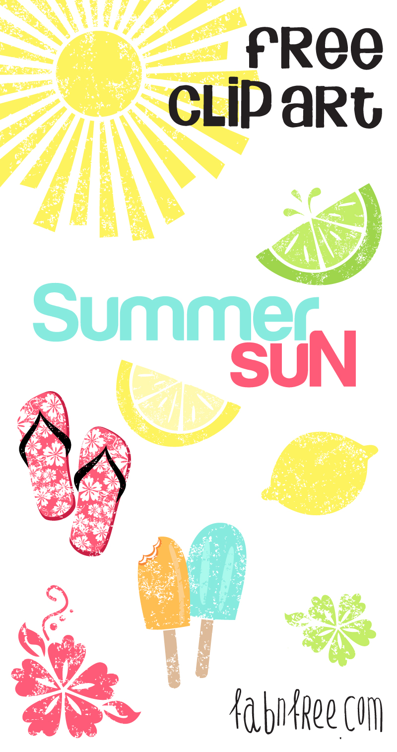 Free Summer Clipart Set . - Free Commercial Use Clipart