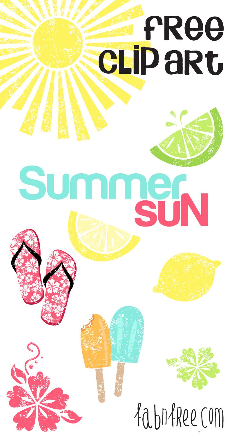 Free Summer Clipart Set .-Free Summer Clipart Set .-12