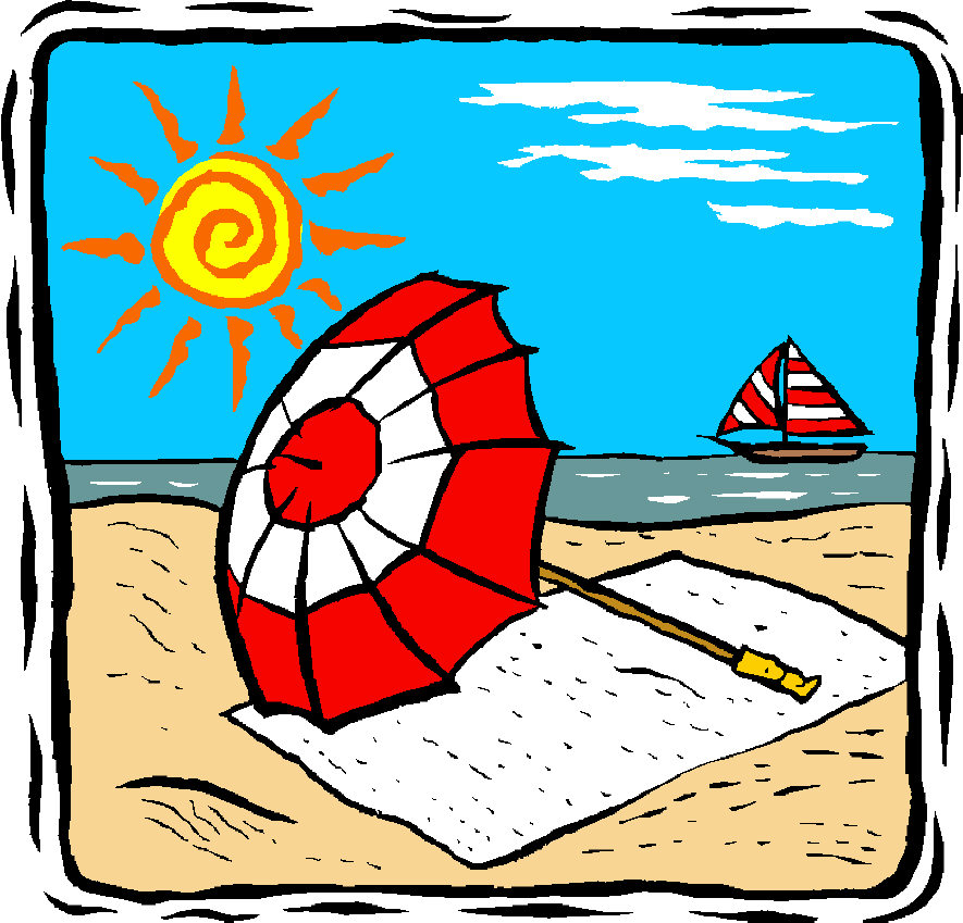 Free Summer Vacation Clipart 2 ... Beach-Free summer vacation clipart 2 ... Beach Umbrella By A Beach-6