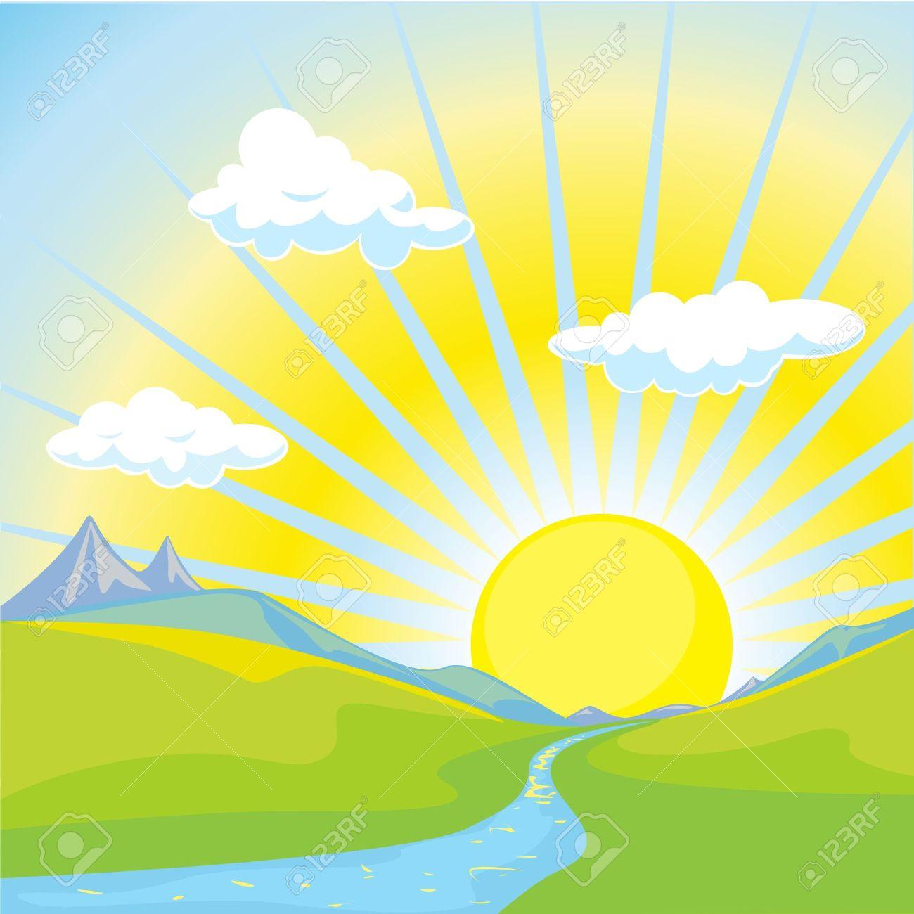 Free Sunrise Clipart Image - Sunrise Clipart