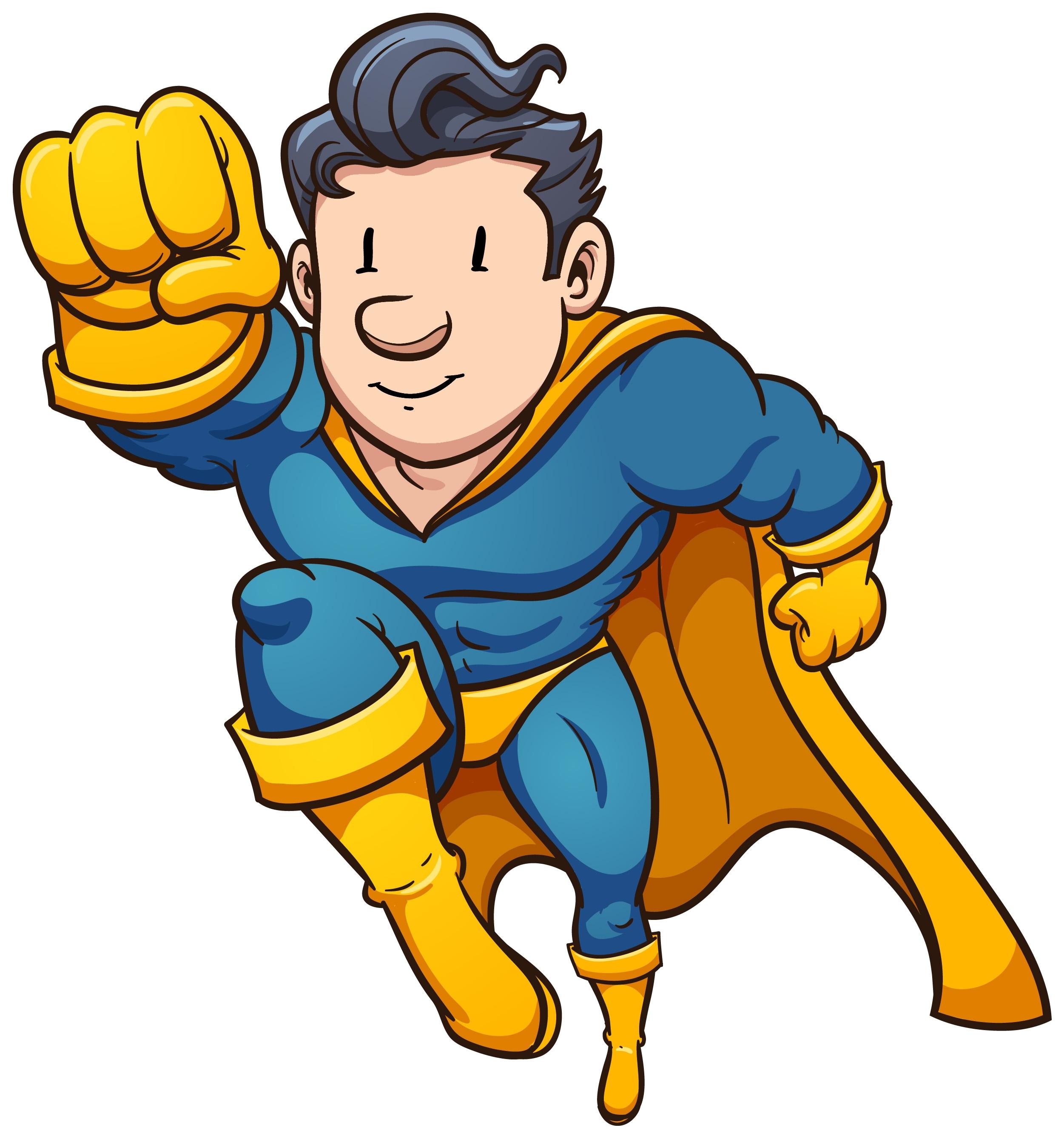 Free Superhero Clip Art Border