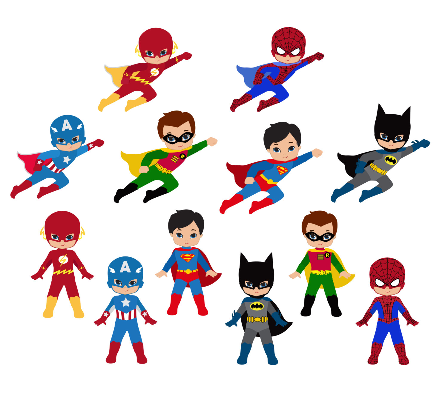 Free Superhero Clipart For Te - Superhero Clip Art Free