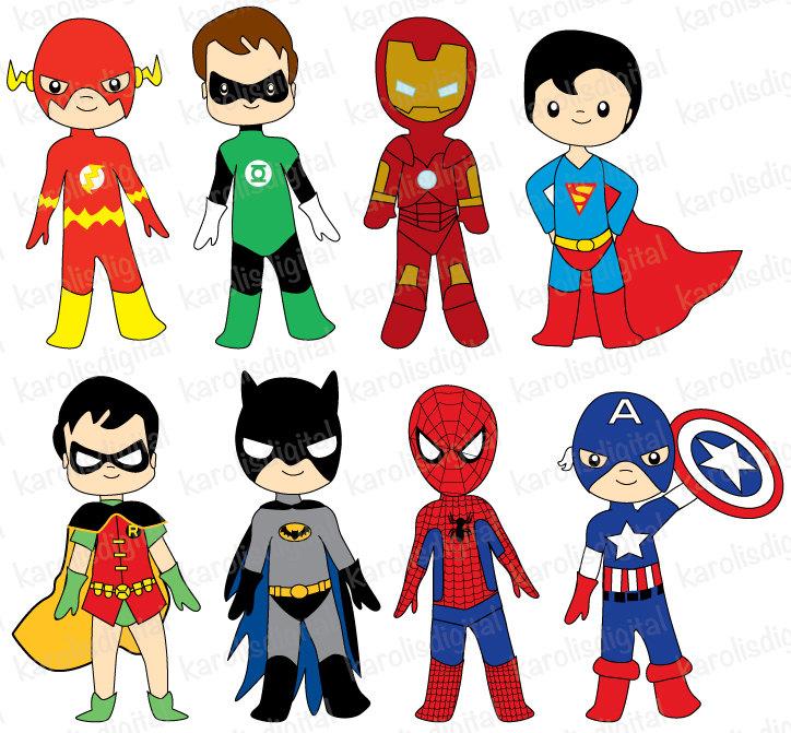 free superhero clipart