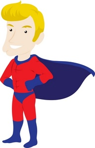 Large superhero words clipart
