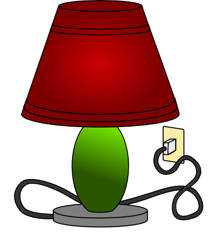 Free Table Lamp Clip Art