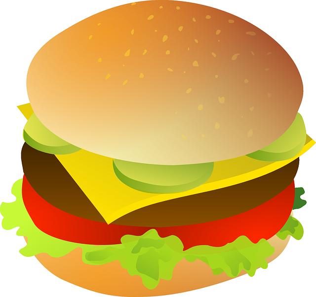 Free Tasty Hamburger Clip Art