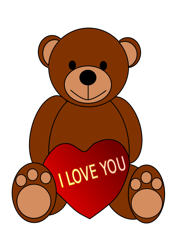 Free Teddy Bear With I Love You Sign Cli-Free Teddy Bear with I Love You Sign Clip Art-7